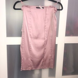 Gucci light pink pencil skirt